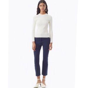 Cynthia Rowley Ivory Ribbed Chunky Wool Sweater